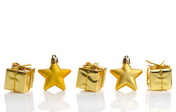 La Navidad del oro Imagen de archivo
