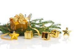 La Navidad del oro Fotografía de archivo