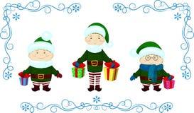 La Navidad del regalo de Elfs Fotografía de archivo