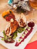 La Navidad del rollo del pollo Foto de archivo