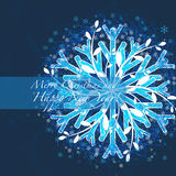 La Navidad del saludo y fondo del Año Nuevo Imagenes de archivo