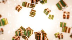 La Navidad del verde del regalo Fotos de archivo