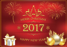 La Navidad elegante y Año Nuevo Foto de archivo libre de regalías