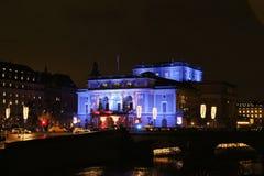 La Navidad en la ópera real en Estocolmo Foto de archivo