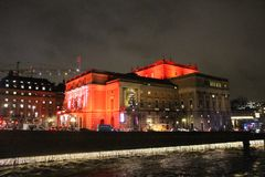 La Navidad en la ópera real en Estocolmo Fotografía de archivo