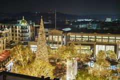 La Navidad en la alameda de compras, Galleria de Glendale fotografía de archivo