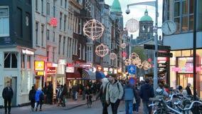 La Navidad en Amsterdam almacen de metraje de vídeo
