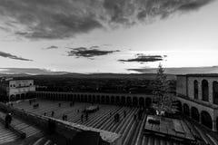 La Navidad 2017 en Assisi, con vistas a San Francisco chu papal Fotos de archivo libres de regalías