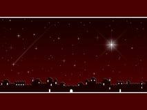 La Navidad en Bethlehem [rojo] stock de ilustración