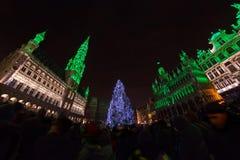 La Navidad en Bruselas Imágenes de archivo libres de regalías