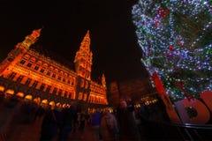 La Navidad en Bruselas Fotografía de archivo libre de regalías