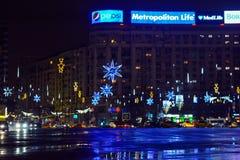 La Navidad en Bucarest Fotos de archivo libres de regalías