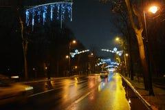 La Navidad en Bucarest Foto de archivo