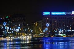 La Navidad en Bucarest Fotos de archivo