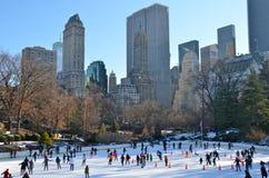 La Navidad en Central Park, Nueva York Foto de archivo