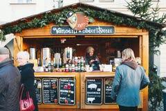 La Navidad en Cesky Krumlov, República Checa, Europa Fotos de archivo libres de regalías