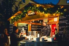 La Navidad en Cesky Krumlov, República Checa, Europa Imagen de archivo libre de regalías