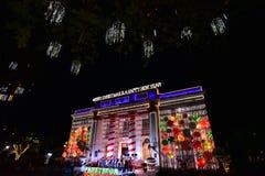 La Navidad en la ciudad de Davao, Filipinas Fotos de archivo