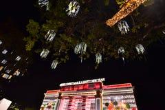 La Navidad en la ciudad de Davao, Filipinas Imagenes de archivo
