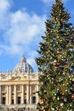 La Navidad en la Ciudad del Vaticano Fotografía de archivo libre de regalías