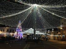 La Navidad en Craiova Imágenes de archivo libres de regalías