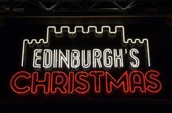 La Navidad en Edimburgo Foto de archivo libre de regalías