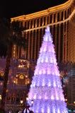 La Navidad en el casino veneciano del hotel turístico en Las Vegas Imagenes de archivo
