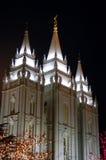 La Navidad en el cuadrado 7 del templo Imagen de archivo libre de regalías