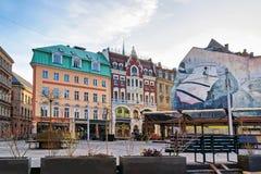 La Navidad en el cuadrado de la bóveda en Riga vieja Fotos de archivo libres de regalías