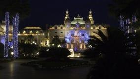 La Navidad en el cuadrado del casino Foto de archivo libre de regalías