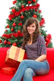La Navidad en el país Imagen de archivo libre de regalías