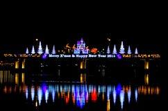 La Navidad en el río Imagen de archivo libre de regalías