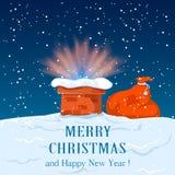 La Navidad en el tejado Imagen de archivo