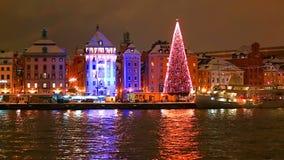 La Navidad en Estocolmo, Suecia almacen de metraje de vídeo