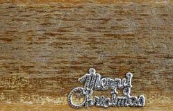 La Navidad en fondo de madera Fotos de archivo