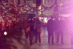 La Navidad en la fractura, Croacia Fotografía de archivo