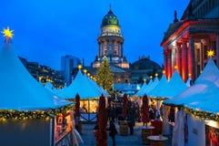 La Navidad en Gendarmenmarkt en Berlín, Alemania Fotos de archivo libres de regalías