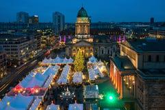 La Navidad en Gendarmenmarkt en Berlín, Alemania Fotos de archivo