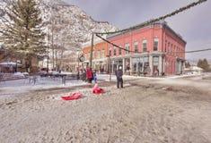 La Navidad en Georgetown, Colorado Fotografía de archivo