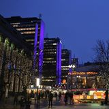 La Navidad en Hötorget en Estocolmo Fotos de archivo libres de regalías