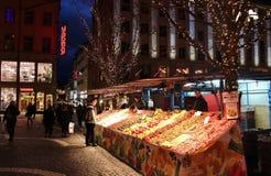 La Navidad en Hötorget en Estocolmo Fotografía de archivo libre de regalías