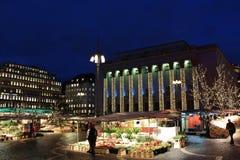 La Navidad en Hötorget en Estocolmo Imágenes de archivo libres de regalías
