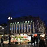 La Navidad en Hötorget en Estocolmo Fotos de archivo