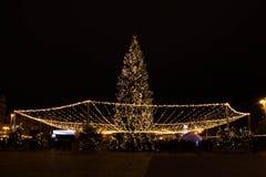 La Navidad en Kyiv Imágenes de archivo libres de regalías