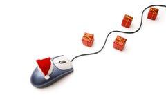 La Navidad en línea Foto de archivo libre de regalías