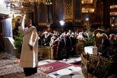 La Navidad en la catedral del St el Volodymyr kiev Foto de archivo libre de regalías