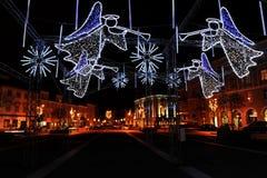 La Navidad en la ciudad Imágenes de archivo libres de regalías
