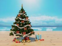 La Navidad en la playa Ilustración del Vector