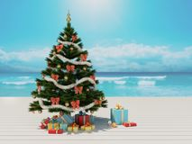 La Navidad en la playa Fotografía de archivo