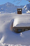 La Navidad en las montañas Foto de archivo libre de regalías